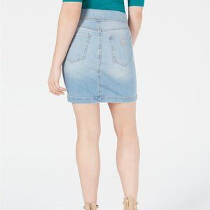 Guess Skirts - GUESS Foldover Jean Bodycon Mini Skirt XL